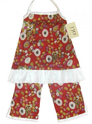 Red Print Capri Outfit 3-6 months
