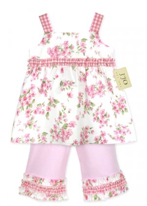 Light Pink Floral Outfit 3-6 months