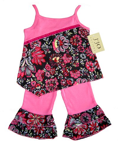 Hot Pink Funky Floral Outfit