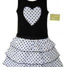 Black and White Dot Ruffle Dress 6-12