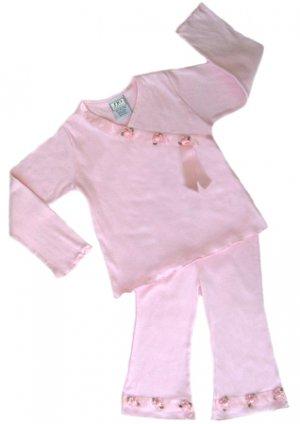Pink Satin Ribbon Outfit Long Sleeve 6-12