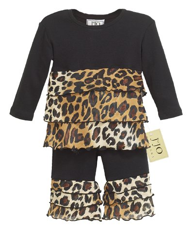 Leopard Print Rumba Outfit Long Sleeve 6-12