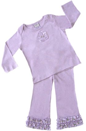 Lavender Satin Ribbon Outfit Long Sleeve 6-12