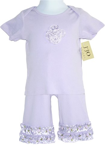 Lavender Satin Ribbon Outfit 6-12