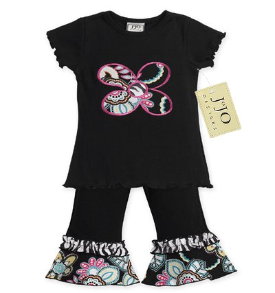 Zebra Print Floral Outfit Short Sleeve 6-12