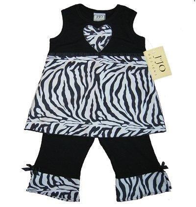 Zebra Print Heart Outfit 6-12