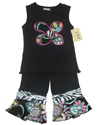 Zebra Print Floral Outfit 6-12