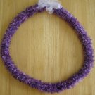 Hawaiian crochet lei w/ purple eyelash yarn