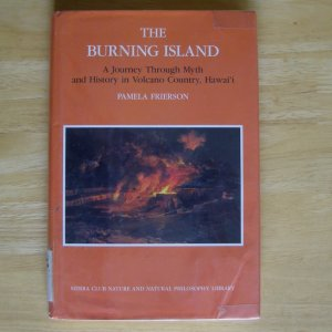 The Burning Island by Pamela Frierson HCDJ
