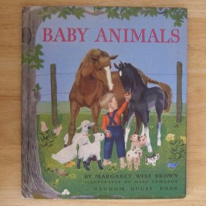 Baby Animals by Margaret Wise Brown, illus. by Mary Cameron, 1941 edition HC