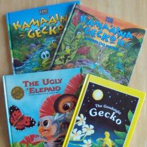4 Children's Books Kamaaina Gecko Goodnight Gecko Ugly Elepaio