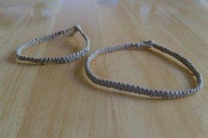 macrame hemp necklace choker and bracelet