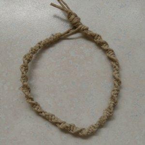 macrame 20# hemp bracelet square knot twist
