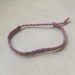macrame bracelet pink, purple, red, turquoise
