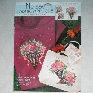 NEW Daisy Kingdom No-Sew Fabric Applique - Chrysanthemum
