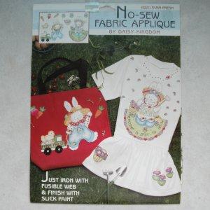 NEW Daisy Kingdom No-Sew Fabric Applique - Farm Fresh