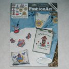 NEW Dimensions No-Sew Fabric Applique - Country Cuties