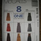 McCall's Sewing Pattern 8472 Misses Size 12 14 16 Jumpers in Two Lengths 8 Great Looks Uncut