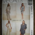 McCall's Sewing Pattern 6541 Misses Size 14 Lined Jacket Vest Dress Pants Uncut