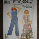 Simplicity Sewing Pattern 9044 Misses Size 10 12 Jumper and Jumpsuit Uncut