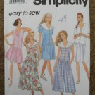 Simplicity Sewing Pattern 7884 Misses Size Petite 6-8 Small 10-12 Medium 14-16 Dress Romper Uncut