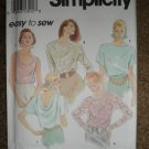 Simplicity Sewing Pattern 8185 Misses Size PT SM MED Set of Tops Uncut