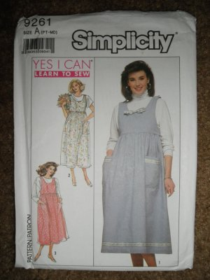 Simplicity Sewing Pattern 9261 Misses Size PT SM MED Maternity Jumper Uncut
