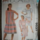 McCall's Sewing Pattern 9537 Misses Size 6 8 10 Low Waisted Pullover Dress Uncut
