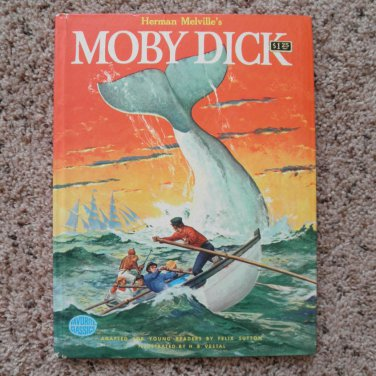 Herman Melville's Moby Dick adapted by Felix Sutton, illus. by H. B. Vestal HC 1956