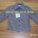 Boys Plaid Shirt, Sz 2T, Made by GeorgeKids NEW w/tags