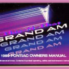 1989 Pontiac Grand Am Owner's Manual 89 LE/SE ex-condtn