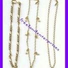"""Anklets Set of Three Anklet Goldtone Chain Bundle Lg10"""""""