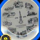 NJ Hackettstown 1776-1976 Bi-Centennial Plate Collectble Excellent Condition