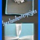 Ring Silvertone Dream CZ Pear Shape in Giftbox Sz Med