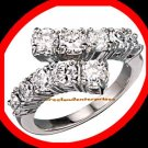 Ring Believe in Love Ring Round CZ's Size 8 Silvertone