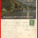 Post Card PA Moonlight On The Lake Highland Park, Pittsburgh, Pennsylvania 1915