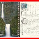 Post Card OR Multnomah Falls, Oregon 1993 with 19 cent stamp on it