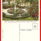 Post Card IL Fountain & Flower Beds Court House Square Joliet