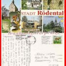 Post Card Europe Germany Stadt Rodental 1993 picture Hummel Girl Ceramicum