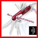 Multi-Tool Knife Sharper Image® Pocket Knife RED