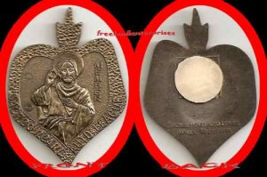 Metal Sacred Heart Auto League Member, Walls, Miss. VTG