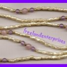 Necklace Beads Pearly Rice Beads with Purple & Pink #122