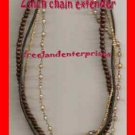 "Necklace Beads Multi Strand Brown--Cord 15"" Choker Star"