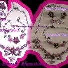 Necklace & Bracelet & Earring Gift Set AURORA BOREALIS Rhinestones ~Vintage~VGC