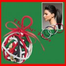 Hair Scunci® No Damage Elastic Ornament CONAIR New PKG