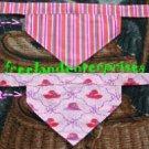 Dog Reversible Neckerchief Sleeve Pink Hats+Stripe NEW