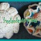 Crocheted Pin Cushion & Thread Caddy 06 Reversible Teal