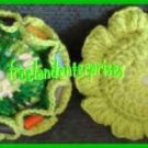 Crocheted Pin Cushion & Thread Caddy 02 Reversible Lime