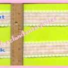 CRAFTS Ribbon Light Pink Gingham/Lace 3-Yd Length-Nice