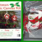 CRAFTS Christmas Plastic Ornament Canvas Kit (3 Clocks)